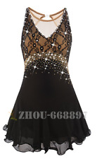 Ice Figure Skating Dress Gymnastics custome Dress Dance Competition black lace
