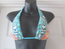 BN MAAJI PATCHWORK HALTER NECK EMBROIDED BIKINI TOP SIZE M