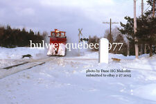 Canadian Pacific Rwy  Snowplow 401017 loco 8751 near miss!  Bulwer Quebec 1977