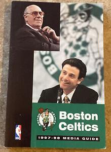 1997-98 BOSTON CELTICS Media Guide RED AUERBACH RICK PITINO ANTOINE WALKER