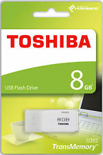 TOSHIBA MINI PENDRIVE USB 2.0 8GB CHIAVETTA PENNA 8 GB CHIAVE FLASH