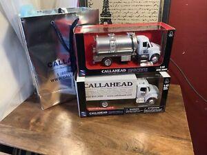 A lot of 2 CALLAHEAD DIE CAST 1:43 FREIGHTLINER TRUCKS  NEW !!!!!!!