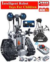 Creative RC Electric Building Blocks 408Pcs Intelligent Robot Remote Control Toy