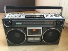 Sanyo M 9994K GhettoBlaster Boom box VERY CLEAN cassette Player Needs Belts