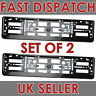 2x Black ABS Reg Number Plate Surrounds Holder Frame for all cars Universal