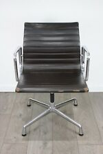 FREE UK DELIVERY   Genuine Vitra Eames EA 103 Chair   Brown Leather   Chrome  