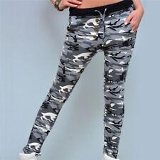 Women Fashion Camouflage HAREM Sweatpants Jogger Loose Female High Waist Pants F Green XL