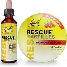Bach Rescue Remedy 20ml Drops Natural Excellent Stress Relief + Flavor Pastilles