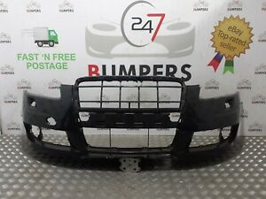 AUDI A6 2004 - 2008 GENUINE C6 4F S LINE FRONT BUMPER P/N: 4F0807437AD * SPLIT