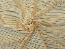 "Natural Cotton Stretch Fishnet Fabric Knit By Yard  66""W 11/3/15"