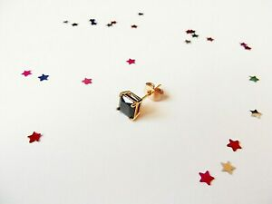 GOOD QUALITY Mens 14ct Yellow Gold Plate Stud Earring