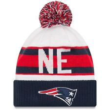 df9de26cf8ffc New England Patriots RETRO CUFF New Era Mens Pom Knit Winter Hat FREE  SHIPPING
