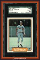 1982 Fleer Cal Ripken Jr #176 SGC 92 8.5 Rookie HOF