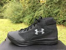 5826bb6abf66 NEW MEN UNDER ARMOUR UA JET 2017 BASKETBALL SHOE 1300016-001 BLACK BLACK Sz