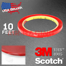 Genuine 3M VHB #4905 Clear Double-Sided Tape Mounting Automotive 6mmx10FT