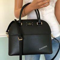 NEW! KATE SPADE Leather Satchel Shoulder Crossbody Bag Purse Black