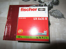 Pêcheurs Universel Chevilles UX Plastique Chevilles 20 à 100 pcs généralistes chevilles Chevilles