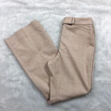 WHBM New Beverly Linen Fully Lined 8R Modern Boot Cut Trouser Brown Pants