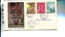Vatican City 1960 First Day Cover Scott 281 - 283 Dabrowska Signed 7871H