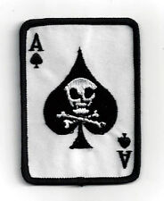 ACE OF SPADES DEATH CARD VIETNAM SKULL HAT PATCH US ARMY MARINES NAVY AIR FORCE