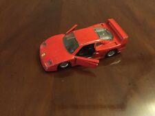 Detailed MAISTO FERRARI F40 Racing Car in Ferrari Red Color Made in China