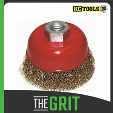 KC Tools M10 X 1.25mm Crimped Steel Cup Brush 09213