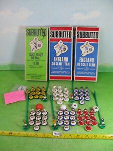 vintage subbuteo mixed lot football teams x6 collectable plastic men figures1663