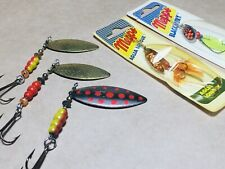 5 x Vintage MEPPS Spinner lures, rare collectables MADE IN France 1960s & 70s