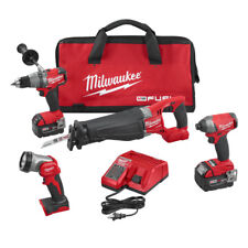 Milwaukee 2896-24 M18 FUEL Cordless 4-Tool Combo Kit- Drill/Impact/SAWZALL/LED