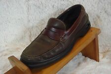 INDIA TWO TONE BROWN COLE HAAN SLIP ON NIK AIR LEATHER SHOES SIZE 10.5 M