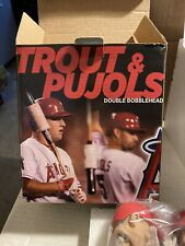 New listing Los Angeles Angels Mike Trout Albert Pujols Double Bobblehead SGA With Game Tic