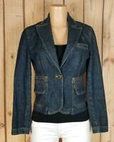 THE LIMITED Womens Size Small Long Sleeve Button Pockets Fitted Jean Jacket