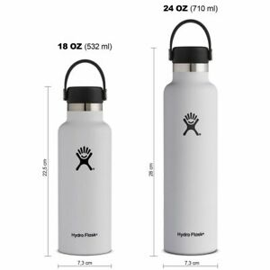 Hydro Flask Standard Mouth Isolierflasche 18 OZ (532ml) / 24 OZ (710ml) white
