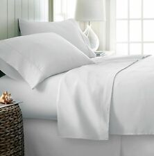 Ienjoy Home 4 Pcs Ultra Soft Deluxe Bed Sheet Set - White, King, (IEH-4PC-KING-WH)