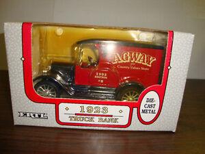 "Agway---1923 Truck Bank #8---Locking Coin Bank---7"" Long---COA---1993"