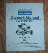 CUB CADET 1325 & 1330 OWNERS OPERATORS MANUAL 772-4129