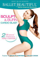 Barre Ballet Style EXERCISE DVD - BALLET BEAUTIFUL SCULPT & BURN CARDIO BLAST!