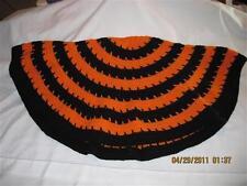 Circle of Love Laptop Throw/Blanket...Blk. & Orange..Original Design...Hand made