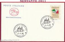 ITALIA FDC CAVALLINO 1986 FILATELICO BUSTO ARSIZIO Z992