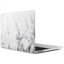 MacBook Pro 13 Inch Protective Hard Case Soft Touch Cover Classy White Marble