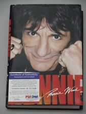 The Rolling Stones RONNIE WOOD Hand Signed Autobiography Book + PSA DNA COA