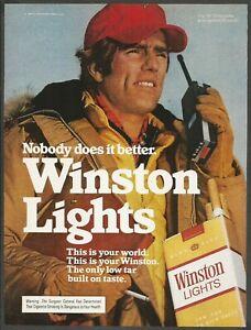 WINSTON LIGHTS -  1982 Vintage Print Ad