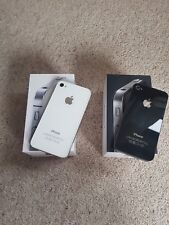 2 x Faulty Apple iPhone 4s / 4 - 16GB - White Black A1387 A1332 with boxes