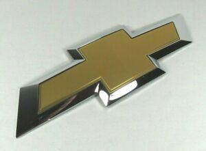 CHEVY SILVERADO EMBLEM 14-20 OEM REAR TAILGATE GOLD BOWTIE BADGE back sign logo
