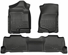 HUSKY CHEVY TAHOE GMC YUKON ESCALADE WeatherBeater Floor Mats Black Liners 98251