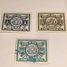 A Mini-Collection Of Ny State Stock Transfer Stamps - Mint, Unused Condition