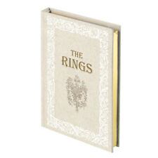 Fairy Tale Storybook Ring Holder Wedding Ring Pillow Alternative (White / Ivory)