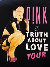 VINTAGE PINK THE TRUTH ABOUT LOVE TOUR T SHIRT LARGE