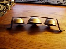 VINTAGE HORSE SLEIGH BELLS, 3 BELLS ON BAR