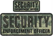SECURITY ENFORCEMENT OFFICER embroidery patches 4x10 And 2x5 hook on back acu